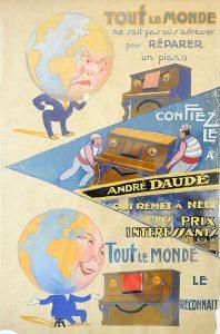Affiche Atelier - Pianos Daudé